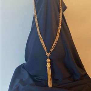 Vintage Gold Tone Costume Long Necklace